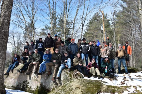 Forestry Camp - student group photo